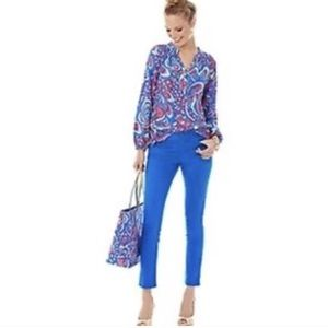 Lilly Pulitzer Brewster Blue Worth Skinny Jeans